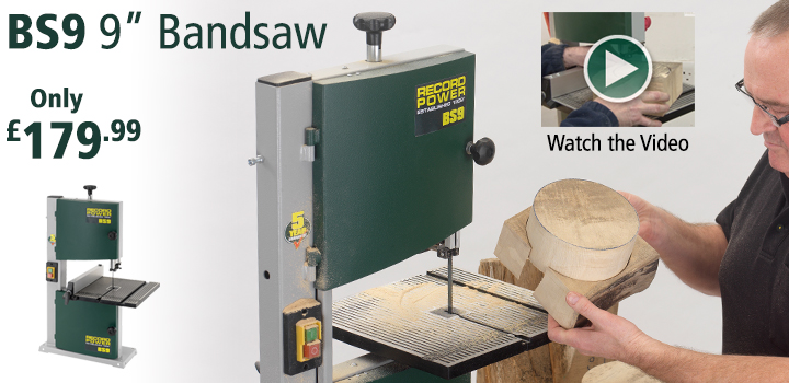 "Record Power BS9 9"" Bandsaw"