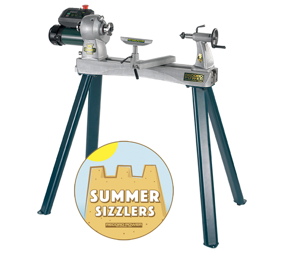 Record Power Coronet Herald Lathe and Leg Stand Package