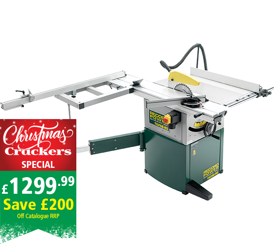 "TS250RS-PK/A 10"" Cabinet Maker's Saw with Heavy Duty Sliding Beam and Squaring Frame"