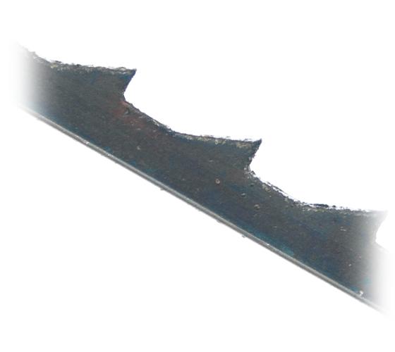 SSB-NF1512 Pack of 12 Skip Tooth Plain End HSS 12 TPI Scroll Saw Blades