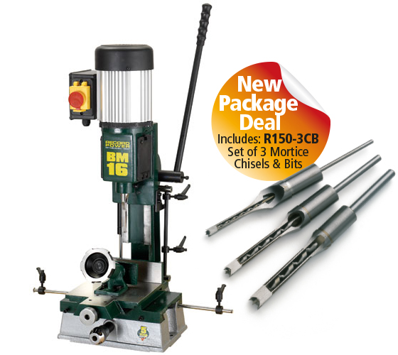 BM16-PK/A Sliding Table Morticer Package Deal