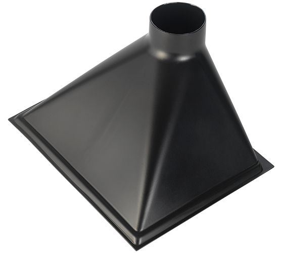 CVA400-50-123 4 Inch Oversized Dust Hood For Mitre Saw