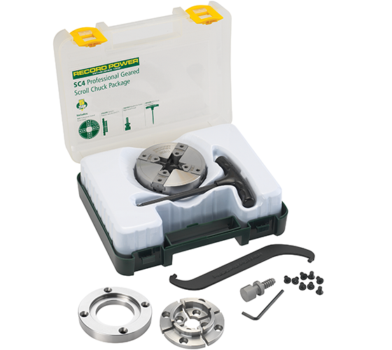 SC4 Professional Geared Scroll Chuck Package with 3 1/2