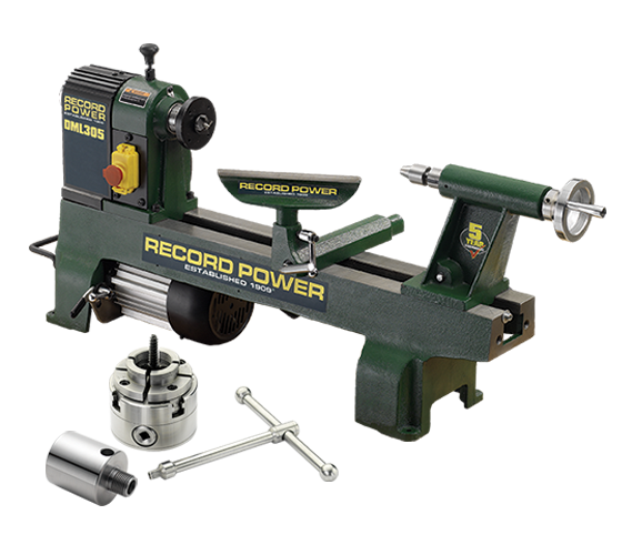 DML305-M33-PK/A Cast Iron 6 Speed Midi Lathe, M33x3.5mm thread, 2MT spindle, with RP2000 chuck
