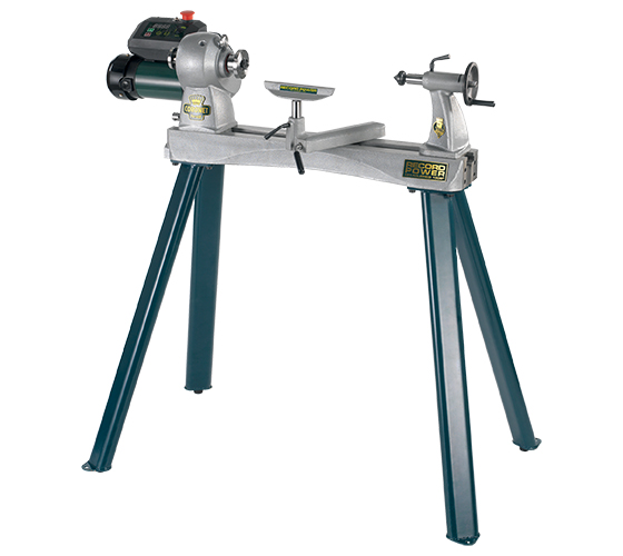 16009 Herald Heavy Duty Cast Iron Variable Speed Lathe Complete With Leg Stand