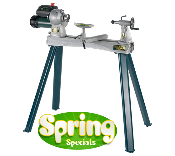 Coronet Herald Heavy Duty Cast Iron Electronic Variable Speed Lathe and Leg Stand Package