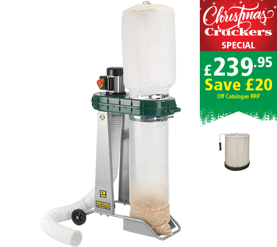 80 Litre Chip Collector with Fine Filter Cartridge Package